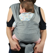 Webeauty® Premium Baby Slings Carrier Natural Cotton Original Baby Wrap/Multiple Positions Soft and Lightweight Sling for Newborn Infants from Birth /Grey