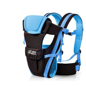 Aulola Baby Carrier Sling Breathable Adjustable Soft Strctured Ergonomic Sling 4 Positions Front / Backpack / Kangaroo / Sling Position Baby Carrier for Carrying 2-24 months Old Baby Kid - Blue