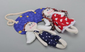 """Pair Of Fabric Toys """"sweet Couple"""""""