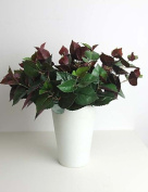 KIUYTGHNB 32cm One Bunch Green Face Purple Backface Perilla Leaf Artificial Plant for Decoration QUILT