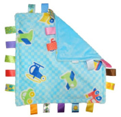Taggies Congerle Little Taggies VEHICELS Vehicle, super soft fluffy Soft cuddle cloth with 20 Loop strap, both sides in light blue