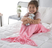 Kids Girls Mermaid Fish Tail Blanket by Sunroom Lap Throw Blankets Sleeping Bag