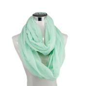 Infinity Nursing Scarf Lactation Cover For New Mothers Breastfeeding Light green