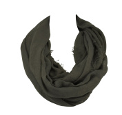 Infinity Nursing Scarf Lactation Cover For New Mothers Breastfeeding dark grey