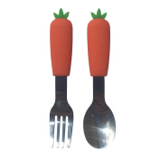 Bibisili Carrot Fruit and and Vegetable Kids Cutlery Fork and Spoon