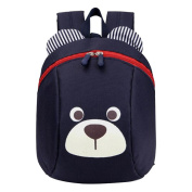 Anti-lost Kindergarten Backpack Cute Dog Shoulder Bag School Bag-Deep Blue