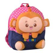 Cute Cartoon Backpack Kindergarten Shoulder Bag Fashion School Bag-Monkey A2