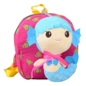 Cute Cartoon Backpack Kindergarten Shoulder Bag Fashion School Bag-Mermaid A1