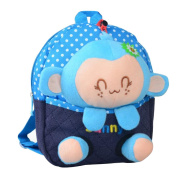 Cute Cartoon Backpack Kindergarten Shoulder Bag Fashion School Bag-Monkey A1