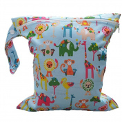 Westeng 1pc Baby Infant Waterproof Zipper Nappy Bags Washable Reusable Baby Nappy Bag Animals Pattern