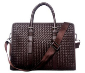 Hand-made Gentlman Business Mens High Quality Grain Leather Offic Computer Work Handbag