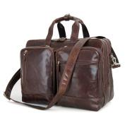 Hermiona Genuine Cow Leather Men's Leather Handbag Travel Business Laptop Bag