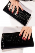 Latest Black Leprose Texture Clutch Handbag from Sleekwear