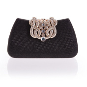 Famoby Womens Crystal Evening Clutch Bag for Party