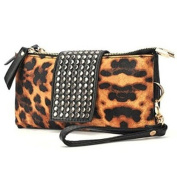 Classic Leopard Special Rivet European and American style Rectangular Vintage banquet Bag