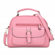 LaoZan Lovely Pu Leather Top Handle Satchel Bag Messenger Bag For Women