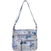 ZYSUN Canvas Crossbody Bags Tote Handbags Pattern Casual Messenger Nappy Bag