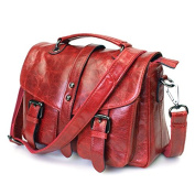 Women's Shoulder bags Genuine Leather Crossbody Bags Casual Messenger Bags Red Brown Black