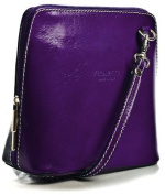 Vera Pelle Mini Italian Real Leather Cross-Body Handbag