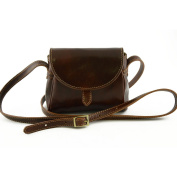 Made In Italy Mini Shoulder Leather Bag For Woman Colour Brown Tuscan Leather - Woman Bag