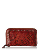 Vintage Anokhi Shpper with Laser-Cut in Cognac