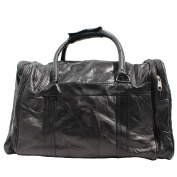 CTM Unisex Travel Bag in Leather with Inner Shoulder Strap - 46x29x23 Cm