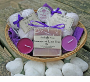Bath Time Pamper Basket - Lavender & Lime