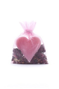 Haslinger 2848 Heart Shaped Soap Rose Blossom