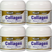 Collagen Beauty Cream Made with 100% Pure Collagen Promotes Tight Skin Enhances Skin Firmness 60ml Jar PACK of 4