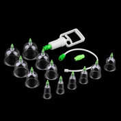 12 Cups Traditional Chinese Cupping Vacuum Massage Medical Body Therapy Vacuum Cupping Device Set