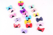12PCS of Uniquely Designed Hair Clips Ribbon Bows Barrettes For Baby Toddler and Young Girls