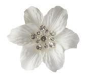 Pick A Gem Hair Accessories Pair of White Diamante Crystal Flower Hair Pins Flower Hair Sticks Wedding Hair Pin