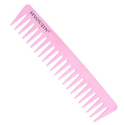 HYOUJIN®601 Pink Wide Tooth Comb, Rake Beard Comb, Detangler Hair Comb-Coming long wet hair, Hair Straighten-best for all kinds of hair especially curly hair-Heat Resistant, Incredibly lightweight-No More Tangle-Hand Polished