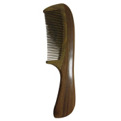 Green Sandalwood No Static Wooden Hair Comb Wood Comb with Handle