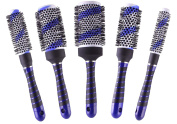 Salon Ceramic Curling Hair Round Thermal Brush Blow Drying Styling Brushes Set of 5 Size