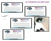 0.07/D/10/12/12/14mm Premade 2D Lash Fans Russian Volume Lashes Eyelash Extensions