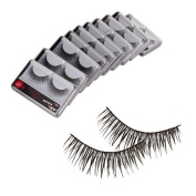 Westeng 10 Pairs Professional Reusable Fake Eyelashes Natural Eyelashes Extension For Makeup Black