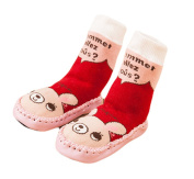 WuYan-Cute Baby Boys Girls Toddlers Moccasins NON-SKID Indoor Shoes Socks/Slippers