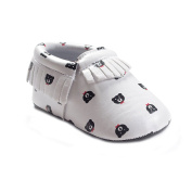 Baby infant's PU Prewalkers Tassels Slip-Resistant Crib Shoes Flats Loafers 0-12 Month