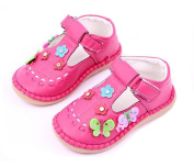 Baby Girls Crib Shoes Infant Faux Leather Stitching Rubber Sole First Walkers