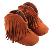 Greencolourful Baby First Walking Shoes Soft and Comfortable Baby Boots Fashionable Tassel Baby Boots