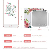 Makeup Mirror of 2017, Jerrybox Double-Sided Tabletop Mirror 1X and 3X Magnification .Flower Shape.