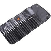 Topteck 20pcs Nail Art Design Painting Detailing Brushes & Dotting Pen Bundle Tool Kit