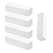 Set of 5 White Nail Buffing Sanding Blocks 4 Sides 240/240 - Manicure, False Nails & Nail Art