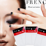 Coscelia 3 Sticker Nail Art Decorations Form Fringe Guides DIY French Nail Tips Manicure Guide Nail Sticker