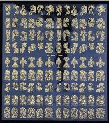 Hysagtek 3D Nail Art Stickers Flower Decals Decorations Transfers Design Form 108 Golden
