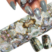 1Sheet Shimmer Holographic Starry Sky Nail Foil Nail Art Sticker Nail Manicure Decoration
