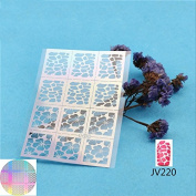 NAIL ART STENCILS / FOIL STICKER - 2 Sheets Self-Adhesive Stencils V220 209