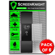 ScreenKnight® Fitbit - Fit Bit Charge 2 / ii Front Screen Protector - Military Shield X 6 Pieces