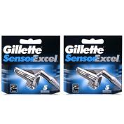 10 Blades Gillette Sensor Excel Razor Blades Cartridges Refill